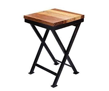 Amazonde Klapphocker Klapptisch Holz Tisch Klein Metall Balkon