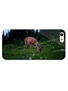 3d Full Wrap Case for iPhone 5/5s Animal Deer Eating Grass18