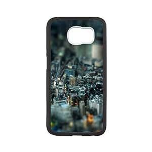 Samsung Galaxy S6 Case,Miniature City Tpu Back Cover Case,Ultra Slim Cover Case,Scratchproof Dustproof Anti-Slip