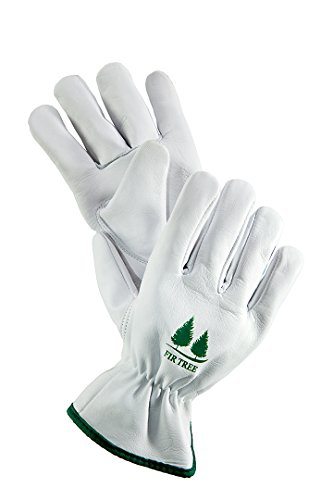 Leather Work Gloves. Premium Goatskin Utility Gloves. Great Gardening Gloves, Outdoor Working Gloves and Drivers Gloves. For Men and Women (Size Chart - Mens Skins Chart Size