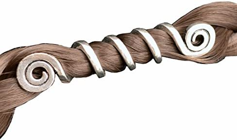 Vikings Spiral Beards Pendants Bracelets