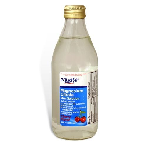 Equate - Magnesium Citrate, Oral Solution, Saline Laxative, Cherry Flavor, 10 Fl Oz