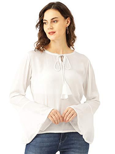 Marc Loire Women's White Fashion Western Party & Casual Wear Top