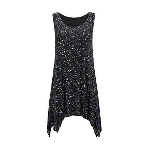 fd3b3f2a81525 good YANG-YI Summer Tops, Clearance Hot 2018 Women Sleeveless Dot Printing  Irregular Vest Blouse Tank Tops Camisole