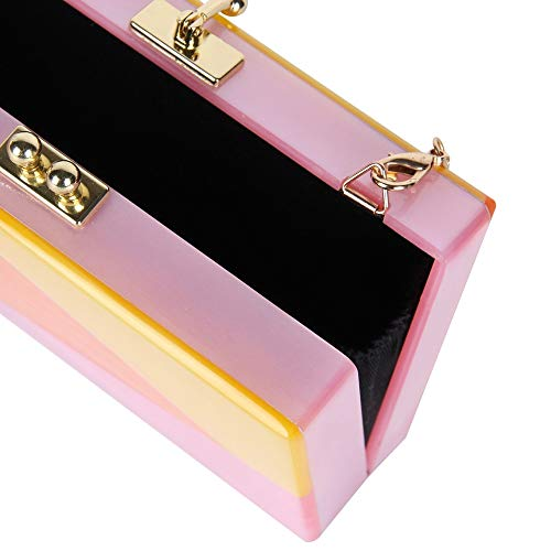 Ceometric Acrylic Women Purses Party Acrylic Clutch Perspective Acrylic Evening Wedding Box Clutch Puzzle Fashion Clutch Bag New KLLXEB xYpqf1SY