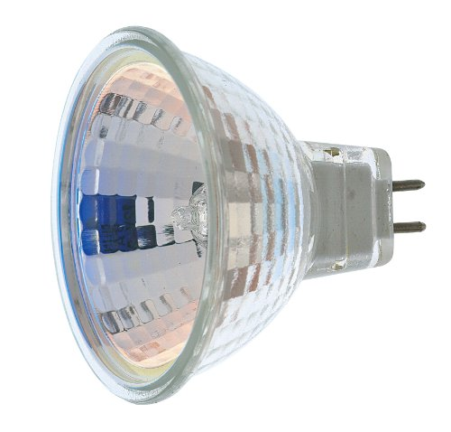 Satco S1961 50 Watt MR16 Halogen GX5.3 Base 12 Volt Clear NSP 9 Beam Pattern No Harmful Ultraviolet Rays Light Bulb, No Lens