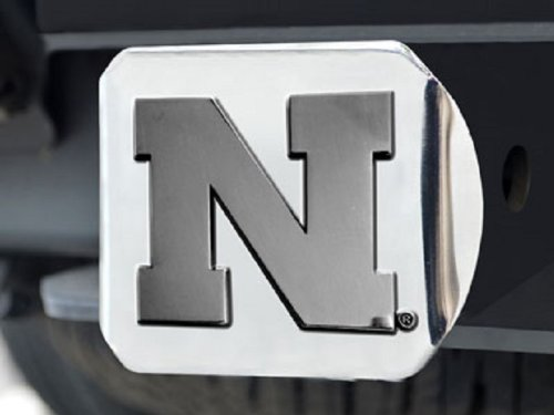 - Fanmats Nebraska Cornhuskers Heavy Metal NCAA Chrome Hitch Cover