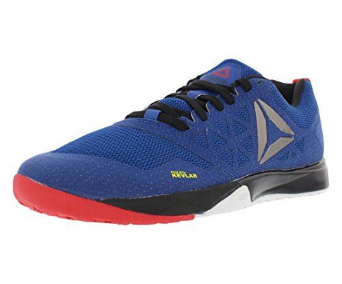 Reebok Men's Crossfit Nano 6.0 Cross-Trainer Shoe, Team Dark Royal/Black/White/Riot Red/Pewter, 11 M US