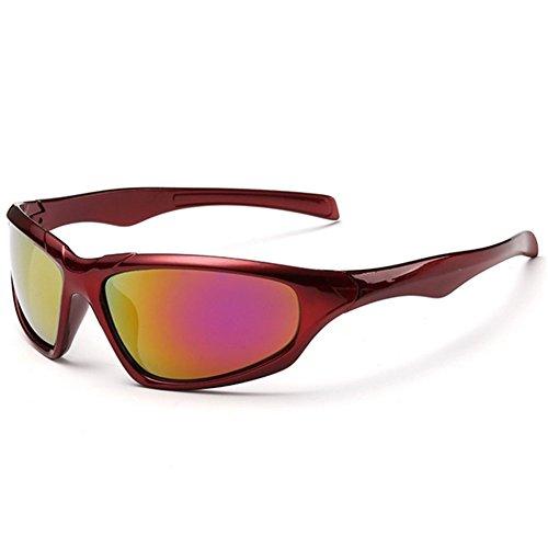 Z-P Men's Sports Bicycle Dazzle Colour Reflective Run Wind - Run The Color Sunglasses