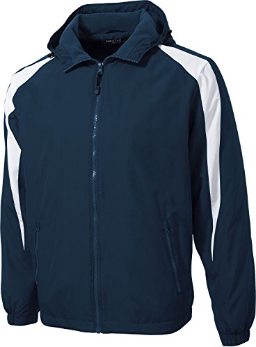 (Sport-Tek Mens Fleece-Lined Colorblock Jacket (JST81) -True Navy/ -XL)