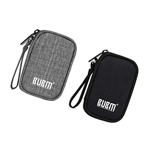 B Blesiya 2Pcs Portable Electronic Bag Pouch Zipper Storage