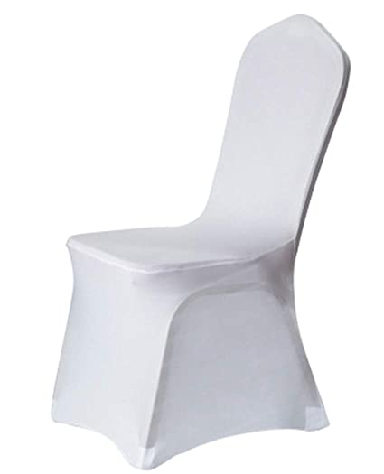 Swell Helan Stretch Spandex Chair Covers Stretchable Chair Slipcovers Wedding Party Banquet Chair Cover 12 Colors 10 Pcs White Machost Co Dining Chair Design Ideas Machostcouk