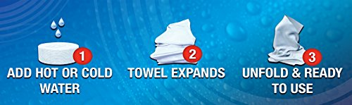 Ezywipe Compressed Cleansing 3 Packs of 6 = 18 Towels 100% Rayon, Certified Bio-degradable, Hypo-allergenic, Anti-Microbial, Anti-Bacterial for Travel, Home, Family, Personal, Pet, Baby Care by Ezywipe (Image #6)