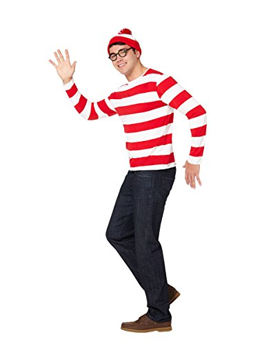 M&m Costumes Adults (Adult Waldo Costume - (S/M) - Where's Waldo)