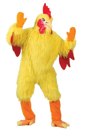 (FunWorld Funny Chicken Suit, Yellow, One Size)