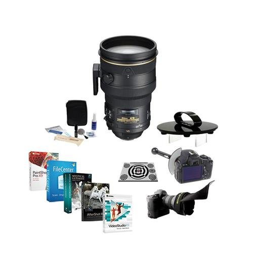 Nikon 200mm f/2G IF-ED AF-S NIKKOR VR II Lens Kit with FocusShifter, LensAlign MkII Calibration & Software