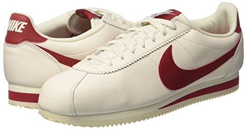 Nike Classic Cortez, Zapatillas de Gimnasia para Hombre Rojo (Sail/gym Red)