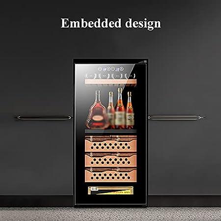 VIY Vinoteca Nevera para vinos Temperaturas Ajustables de 10-18°C/12-18°C Panel de Control táctil Iluminación Interior LED Estantes metálicos extraíbles Volumen de 78 L hasta 8 Botellas Negro