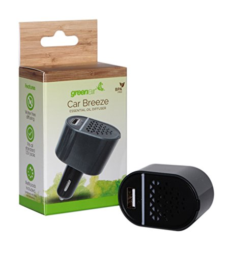 Greenair Carbreeze Essential Oil Diffuser for Aromatherapy, 0.25 Pound