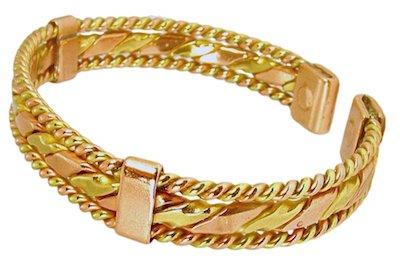 (Excel Womens Solid Copper Magnetic Bracelet Tara Medium Gift Box)