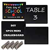 "Set of 4, 7"" x 9"" DIY First Day of School Kindergarten Chalkboard Double-Faced Chalkboard Back to School Sign Use as Photo Prop-Reusable Easy Clean Back to School"
