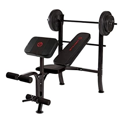 e13bced7351 Image Unavailable. Image not available for. Color  Marcy OPP Standard Bench  with 80 lb Weight Set ...