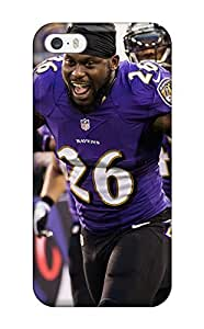 Iphone 5/5s Case Cover - Slim Fit Tpu Protector Shock Absorbent Case (ray Rice)