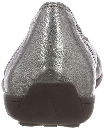 Metallic steel Ballerines 22100 Femme Caprice Argent 905 CIAZXwpq5