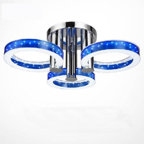 LightInTheBox® Modern Round Acrylic LED Chandelier with 3 lights Ceiling Lamp Flush Mount 90-240V Cold White Blue Color (Blue Light Chandelier compare prices)