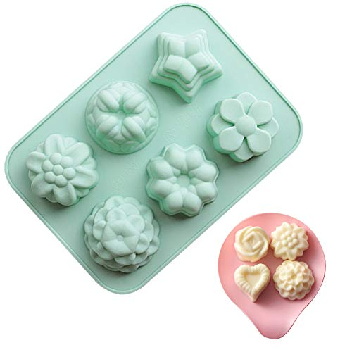 6-Hole Silicone Mold, Exquisite Patterned Chocolate Cake Baking Mold, Used To Make Baking Molds For Chocolate, Ice Cubes, Pudding and Mousse