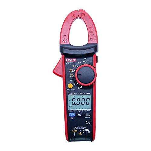 UNI-T UT216C 600A True RMS Auto Range Digital Clamp Meter with ac dc Voltmeter Ammeter Resistance Frequency Capacitance Temperature VFC & NCV Tester+Inrush Current