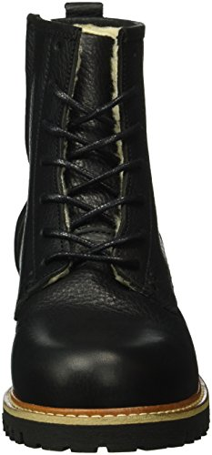 Stivaletti Stivaletti Black Fur Nero Walker Shoe rack rack Donna WxpSvwxntg