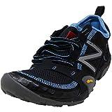 New Balance Women's WT10v1 Minimus Trail Running Shoe, Black/Blue, 8 D US