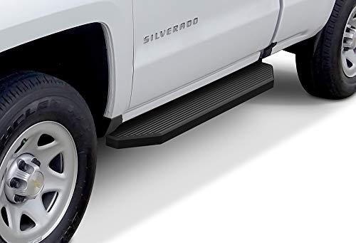 APS iBoard Black Running Boards Style Custom Fit 2007-2018 Chevy Silverado GMC Sierra Regular Cab & 2019 2500 HD / 3500 HD (Excludes 07 Classic Models) (Nerf Bars | Side Steps) 6