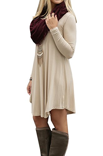 ASCHOEN - Vestido - Manga Larga - para mujer Beige