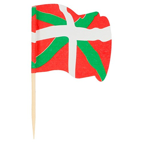 Garcia de Pou Flag Picks Euskadi in Box, Wooden, Assorted, 4 x 2.5 x 6.5 cm by Garcia de Pou