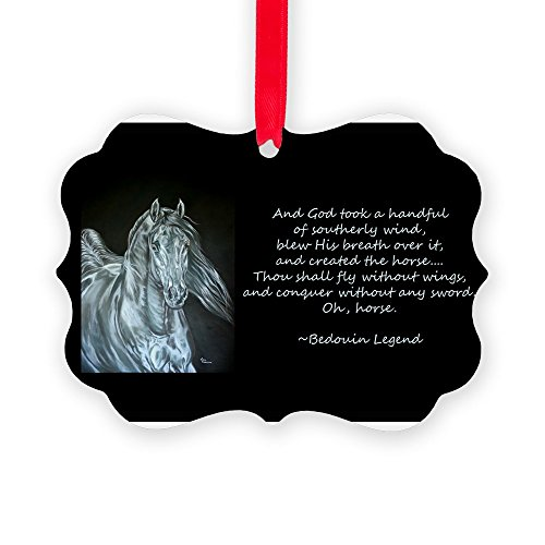 CafePress - Legend Of The Horse - Christmas Ornament, Decorative Tree Ornament by CafePress
