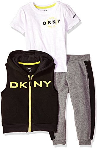 DKNY Little Boys' Sport Knit Shirt and Pant Set, Dark Shadow-Kbbxp, 5 - Dkny Kids