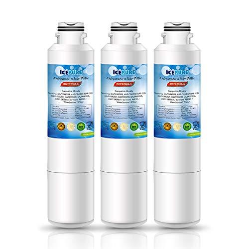ICEPURE DA29-00020B Replacement Refrigerator Water Filter, Compatible with Samsung DA29-00020B, DA29-00020A, HAF-CIN/EXP, HAF-CIN, DA97-08006A, Kenmore 469101 [Pack of 3]