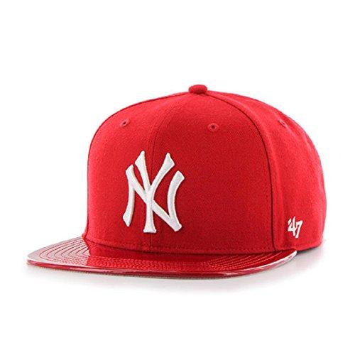 47 New York Yankees Red Glossy Brand Captain Snapback Cap