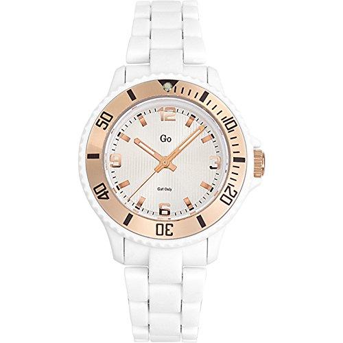 GO Girl Only 694563 - Reloj analógico de cuarzo para mujer con correa de plástico, color blanco: Amazon.es: Relojes