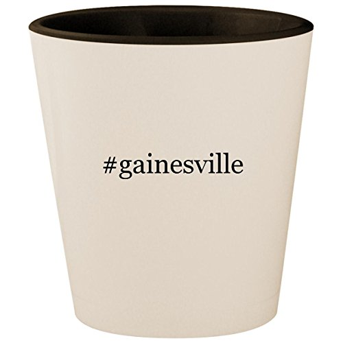 #gainesville - Hashtag White Outer & Black Inner Ceramic 1.5oz Shot -