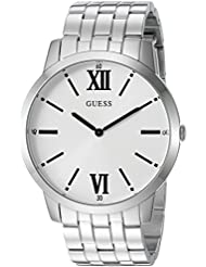 GUESS Mens Stainless Steel Classic Oversized Watch, Color: Silver-Tone (Model: U1073G1)