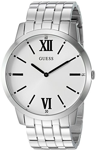 GUESS-Mens-Quartz-Stainless-Steel-Casual-Watch-ColorSilver-Toned-Model-U1073G1