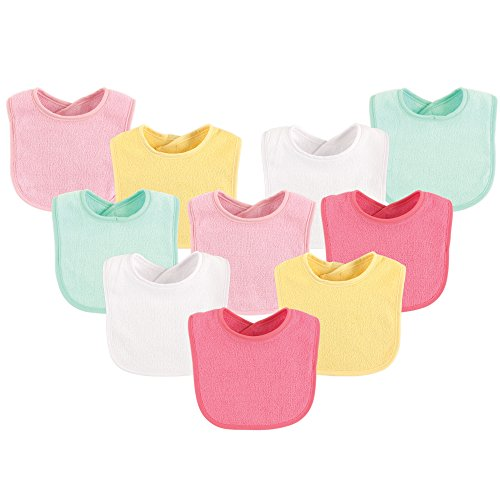 (Luvable Friends 10-Piece Baby Bibs, (Colors May Vary))