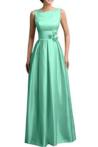 Vestito In Avril Verde Da Luce Spazzata Da Sleeveless Fiore A Partito Raso Vestito line Sera Paletta qrw68vqxA
