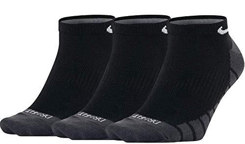 Nike Dry Lightweight No-Show Socks 3PPK (L, Black)