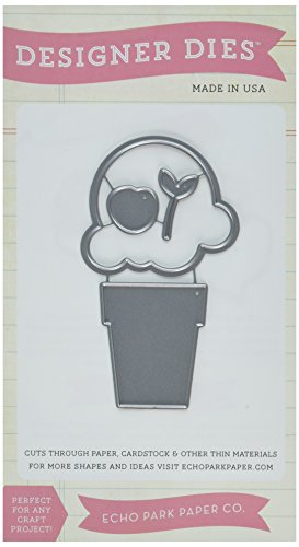Echo Park Paper Company EPPDIE113 Ice Cream Cone Die Cut - Ice Cream Cone Die Cuts