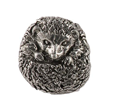 Hedgehog Mammal Pewter Lapel Pin, Brooch, Jewelry, M186