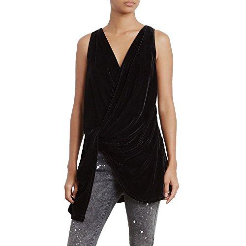 Kenneth Cole Women's Velvet Drape Wrap Top, Black, XL by Kenneth Cole